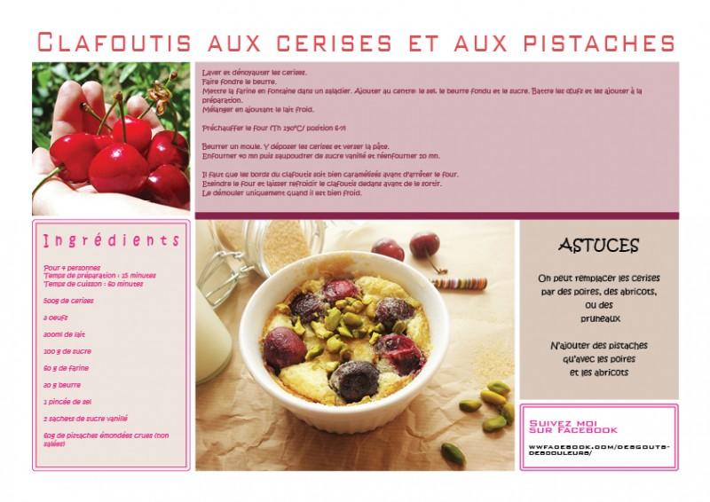 Recette clafoutis aux cerises et aux pistaches