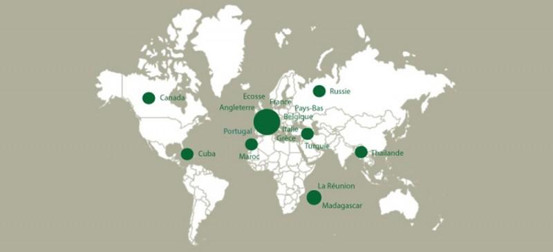 Autour du monde: ma carte de voyages