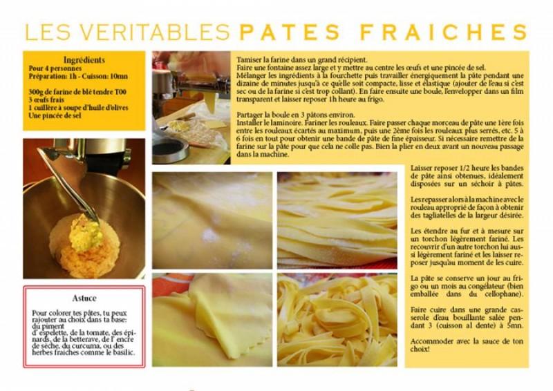 Les véritables pâtes fraiches