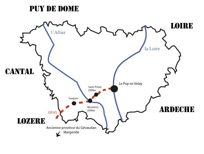 La traversée de la Haute-Loire, en route pour Compostelle