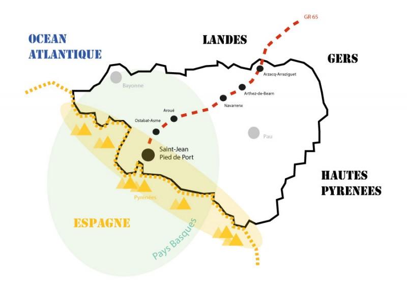 La traversée des Pyrénées-Atlantiques, en route vers Compostelle