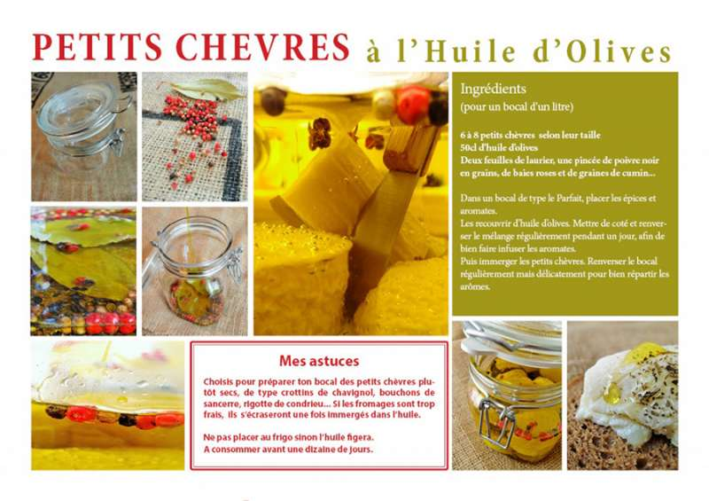 Petits chèvres à l'huile d'olives